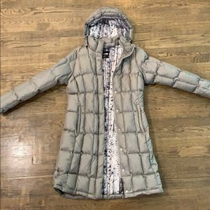 Women's long North Face winter coat
